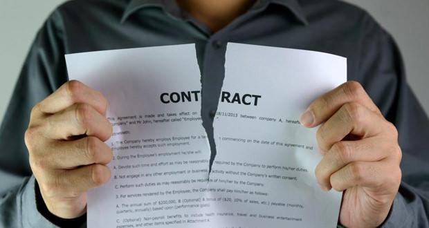 расторение договора